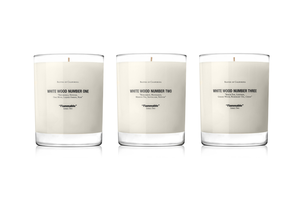 Win a Baxter of California White Wood Candle Set!