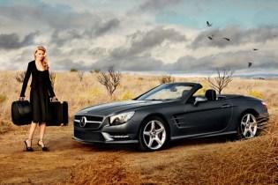 2012 Mercedes-Benz SL Roadster x Lara Stone: Calvin Klein Behind-the-Scenes