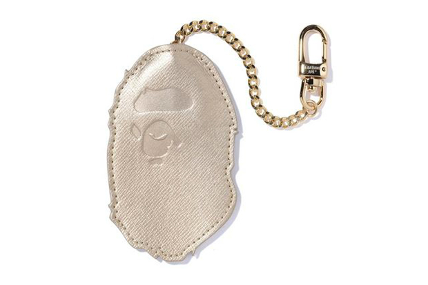 A Bathing Ape Metallic Leather Key Holder