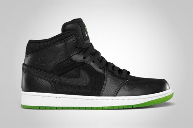 air jordan 1 phat blackaction green