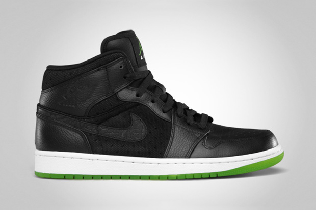 Air Jordan 1 Phat Black/Action Green