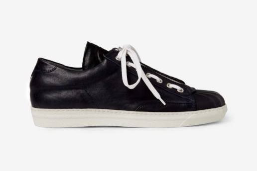 Alexander McQueen Zip and Lace Leather Sneakers