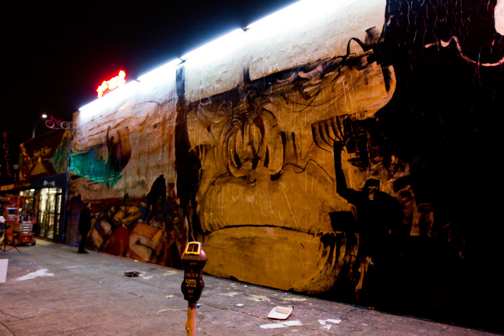 """Anthony Lister """"Rise of the Planet of the Apes"""" Mural @ Melrose Los Angeles"""