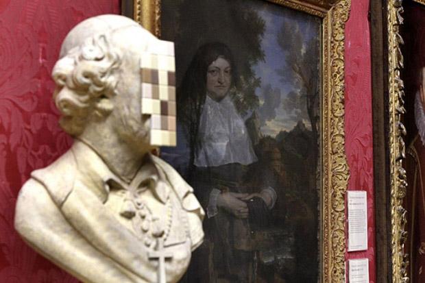 banksy cardinal sin sculpture walker art gallery liverpool