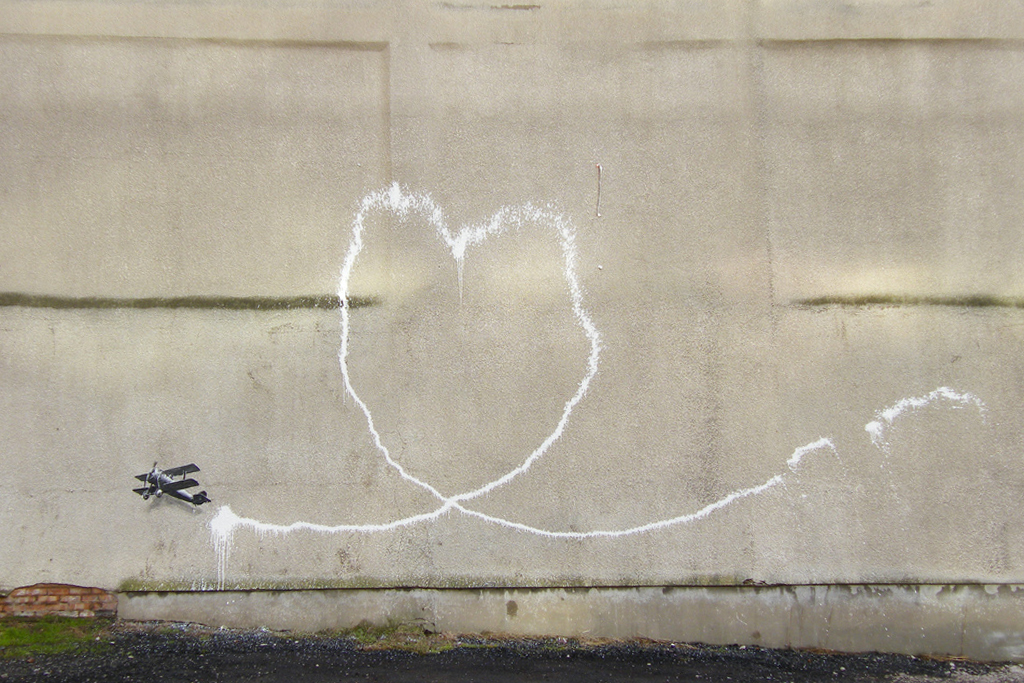 Banksy in Liverpool 'Love Plane'
