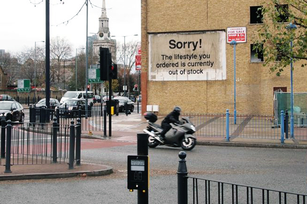banksy in poplar london