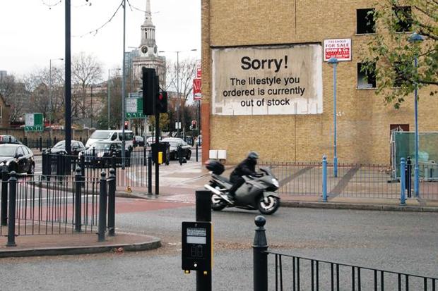 Banksy in Poplar, London