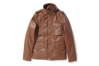 A Bathing Ape LEATHER M-65 JACKET