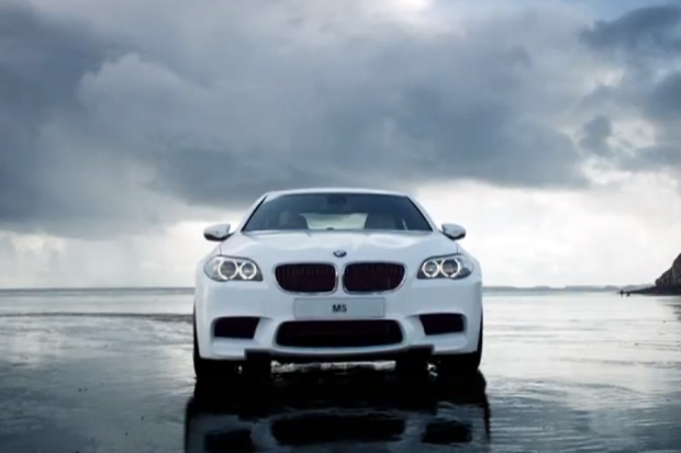 BMW M5: Hits the Beach in Wales