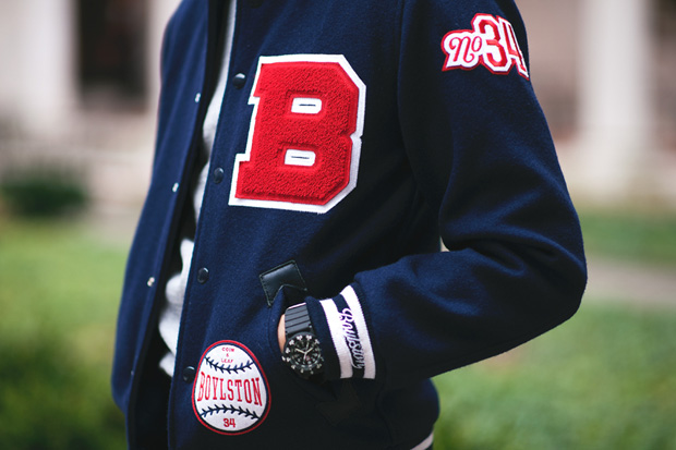 "Boylston Trading Co. x Mitchell & Ness ""Coin & Leaf League"" Baseball Jacket"