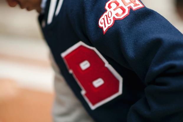 "Boylston Trading Co. x Mitchell & Ness ""Coin & Leaf League"" Baseball Jacket"