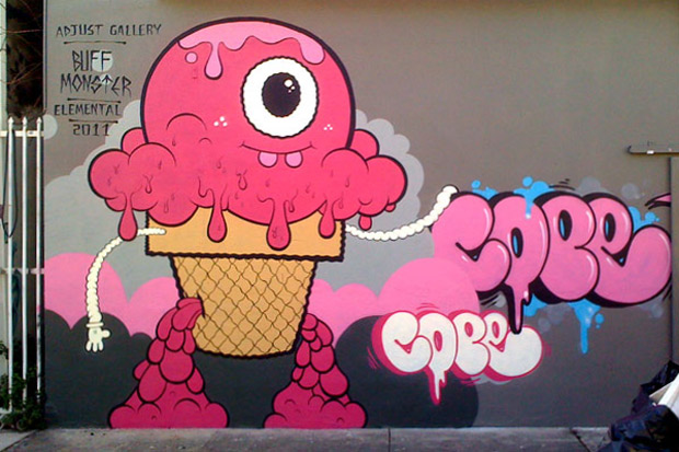 Buff Monster x COPE2 @ Art Basel Miami 2011