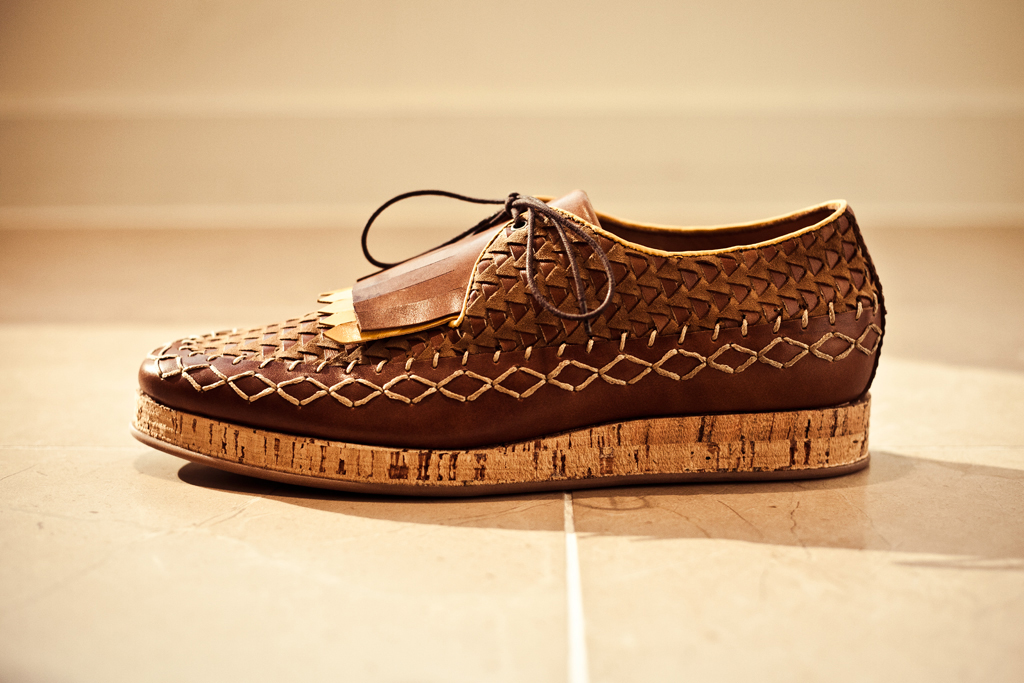 Burberry Prorsum 2012 Spring/Summer Calfskin Lace-Up Shoes