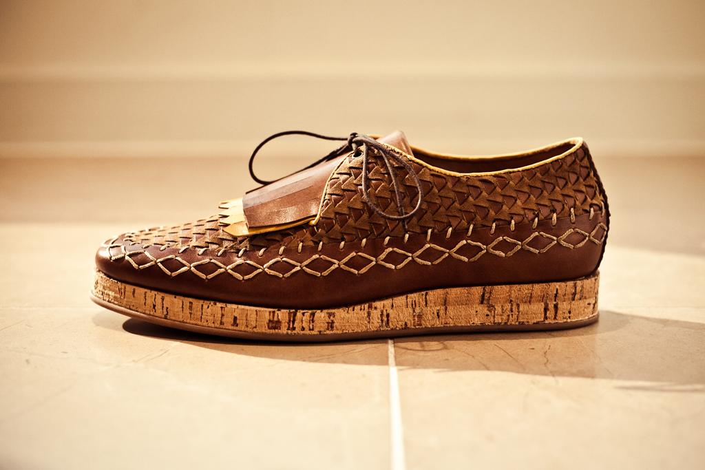 Burberry Prorsum 2012 Spring/Summer Calfskin Lace-Up Shoes