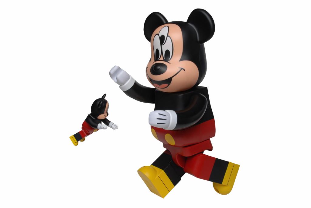 CLOT x Disney x Medicom Toy 3-Eyed Mickey Bearbrick 100% & 400%