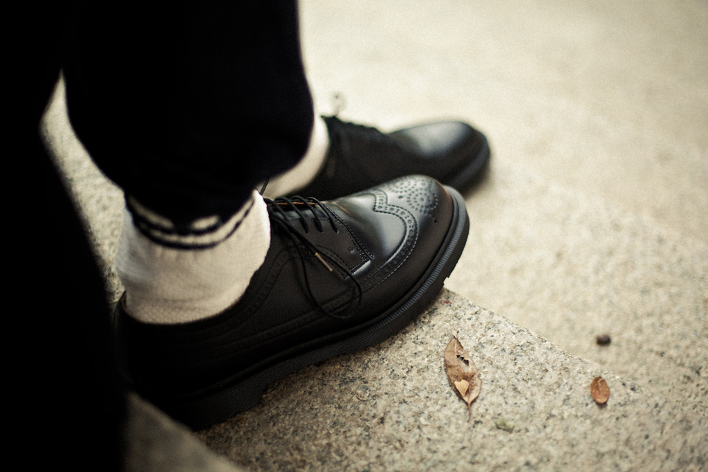 dr martens for hypebeast 3989 5 eye brogue lookbook