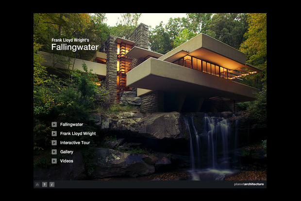 "Frank Lloyd Wright ""Fallingwater"" iPad Application"