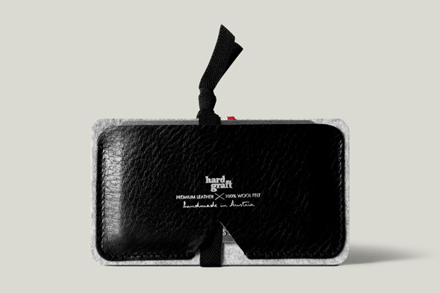 hard graft card case nero