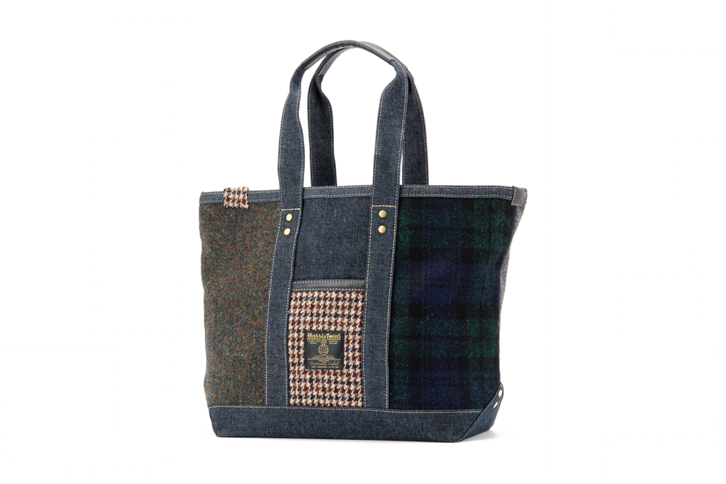 harris tweed x levis 100th anniversary tote bag