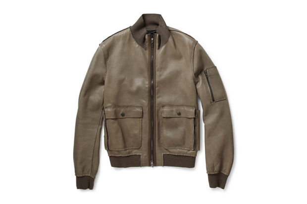 Lanvin Leather Bomber Jackets