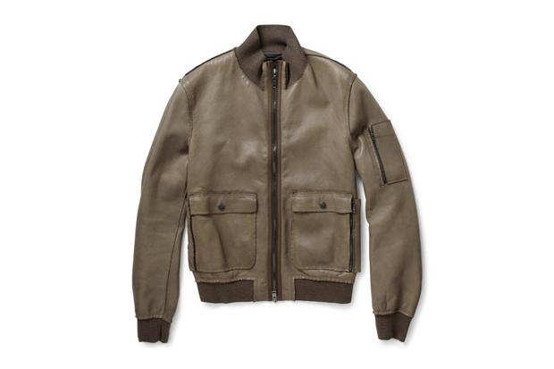 Lanvin Leather Bomber Jackets