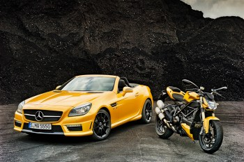 Mercedes-Benz SLK 55 AMG and Ducati Streetfighter 848 Highlight Coalition