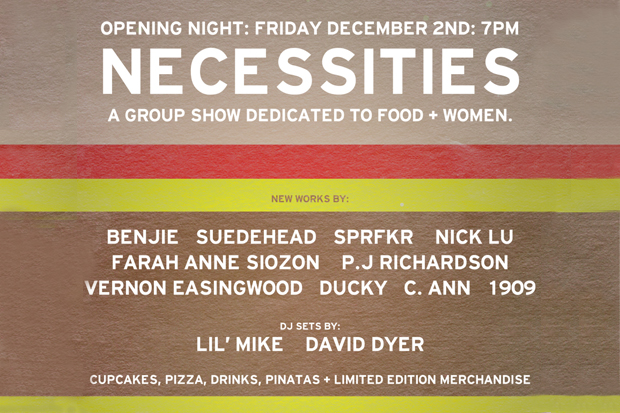 """Necessities """"A Group Show Dedicated to Food + Women"""" Exhibition  @ Backside"""