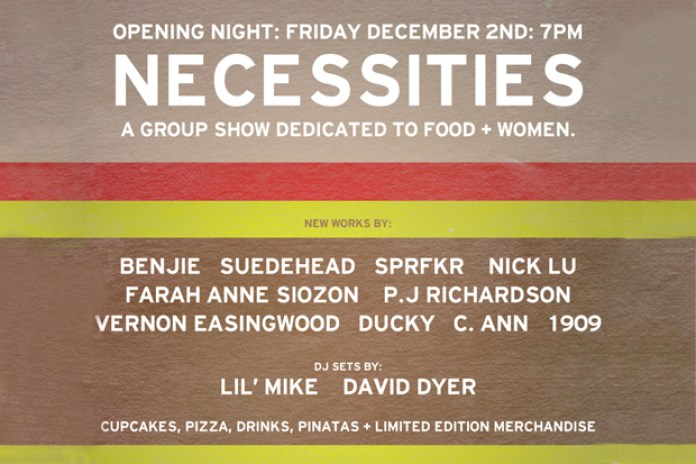 "Necessities ""A Group Show Dedicated to Food + Women"" Exhibition  @ Backside"