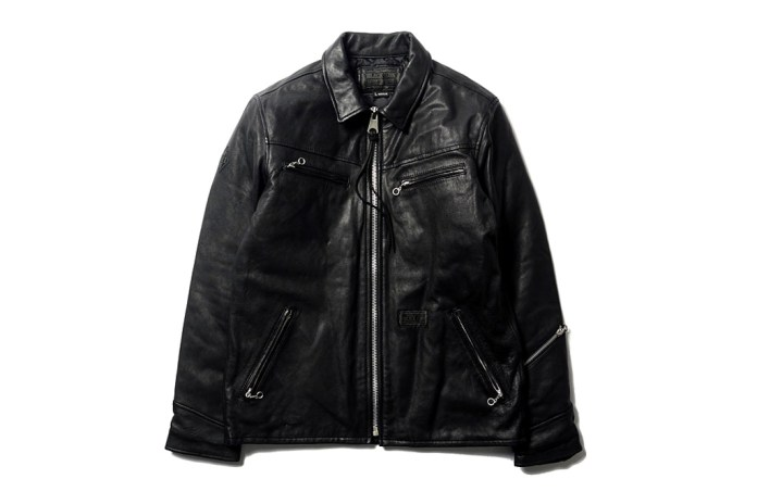 "NEIGHBORHOOD ""Black Icon"" Black Hills Leather Jacket"