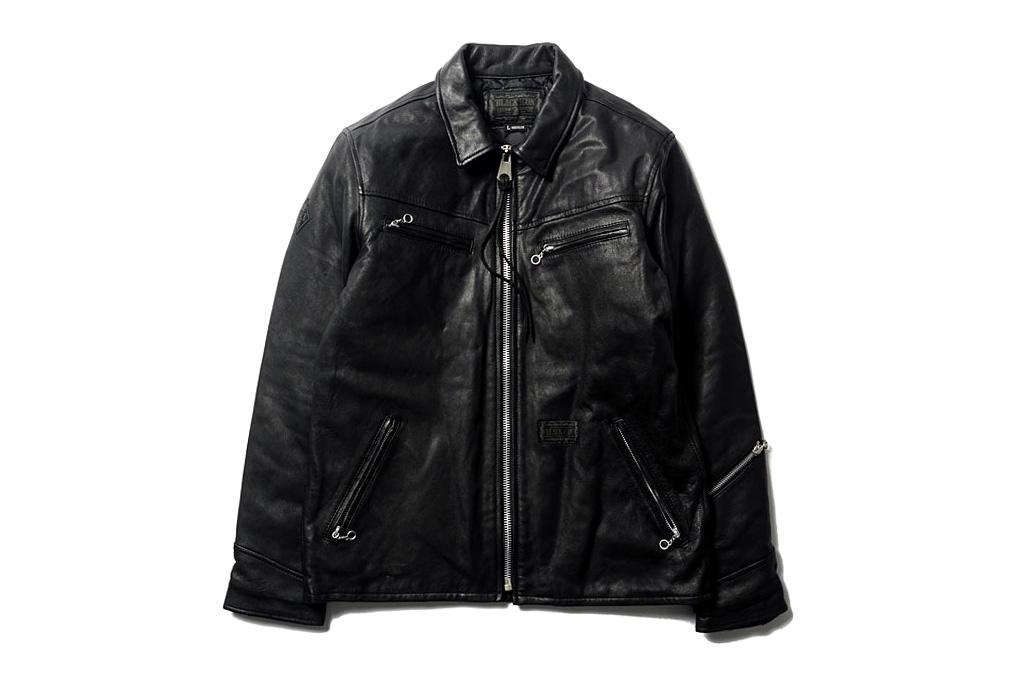 "NEIGHBORHOOD ""Black Icon"" Black Hills Leather Jacket"