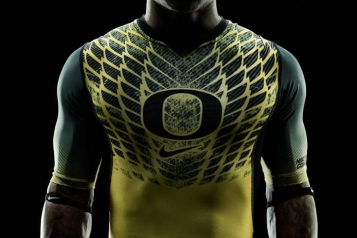 "Nike Football Pro Combat System ""Oregon Ducks"" Uniforms"