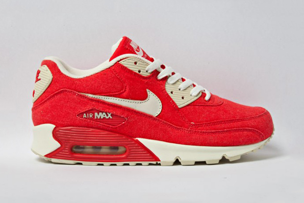 nike sportswear air max 90 red canvas
