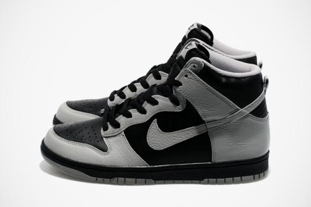 nike sportswear dunk high blackmedium grey