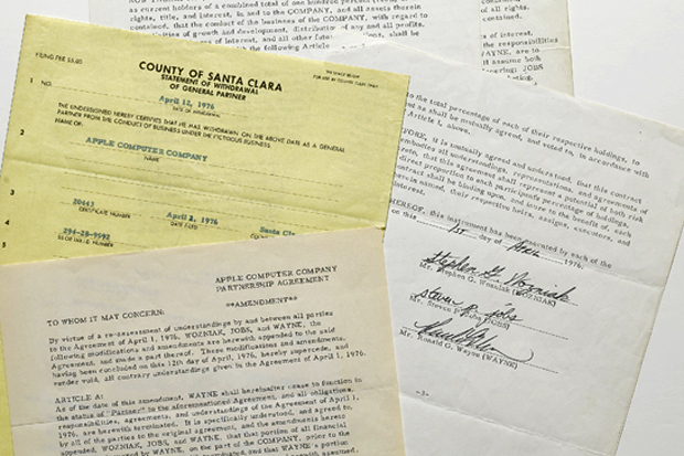 Original Apple Contract Signed by Steve Jobs Fetches $1.6 Million at Sotheby's