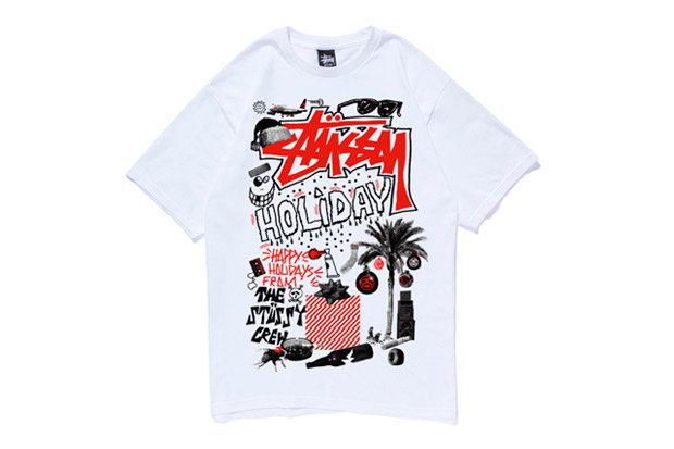 reas x stussy 2011 holiday collage t shirt