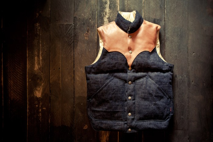 Samurai Denim Down Vest