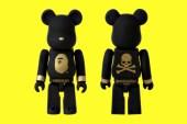 SENSE x A Bathing Ape x mastermind JAPAN 100% Bearbrick
