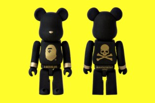 SENSE x A Bathing Ape x mastermind JAPAN 100% Bearbrick