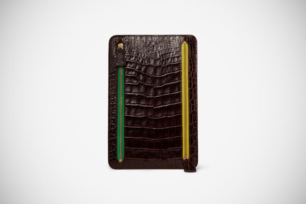 Smythson Crocodile-Embossed Leather Wallet