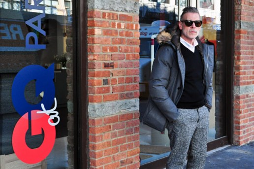 Streetsnaps: Nick Wooster @ GQ x Park & Bond Pop-Up Shop
