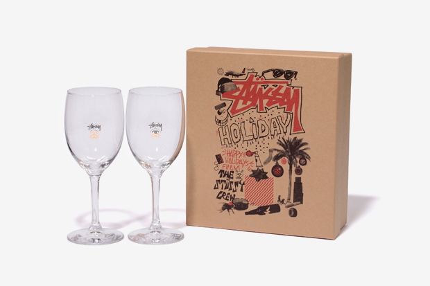 stussy 2011 holiday wine glass set