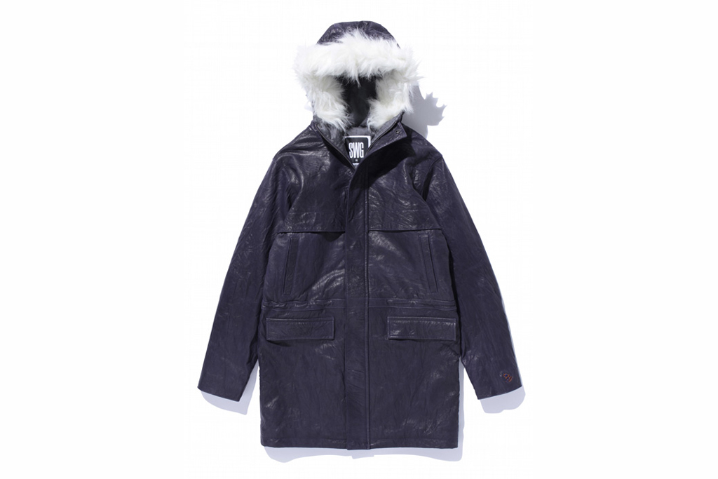 SWAGGER Leather Half Coat