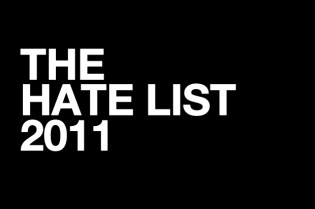 THE HATE LIST 2011