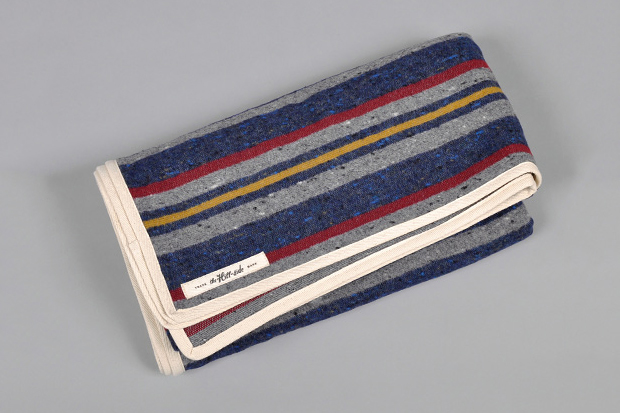 the hill side wool blend stripe throw blanket for hickorees