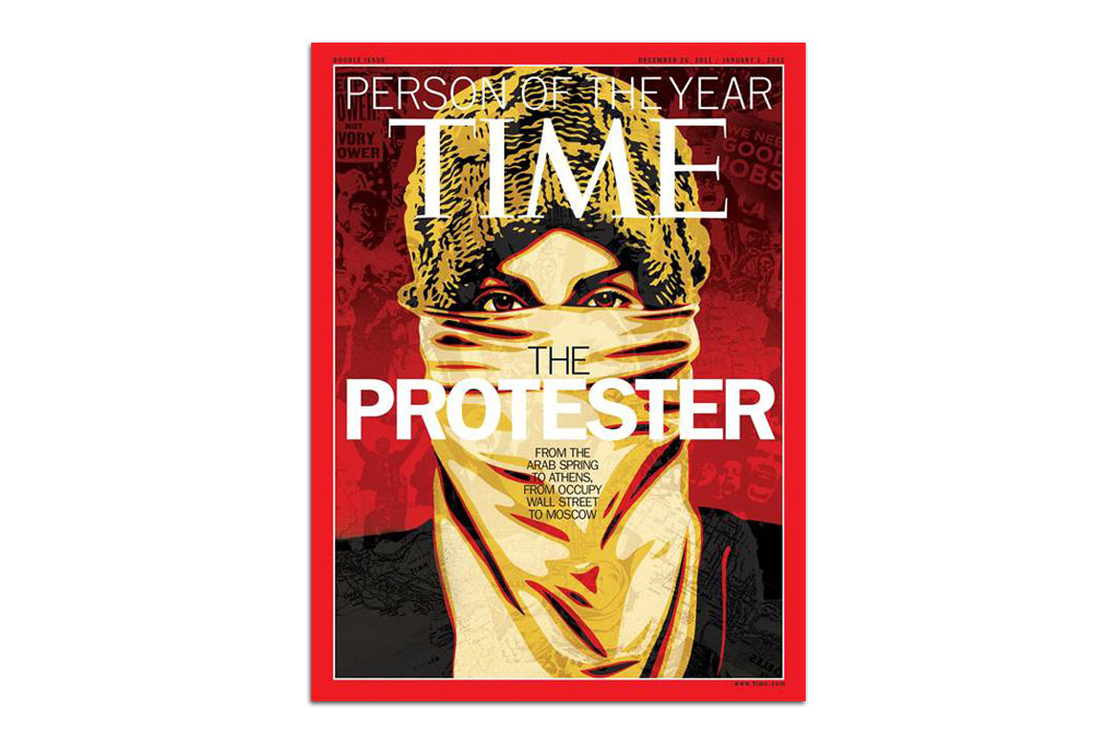 """TIME Magazine """"Person of the Year"""" Cover by Shepard Fairey"""