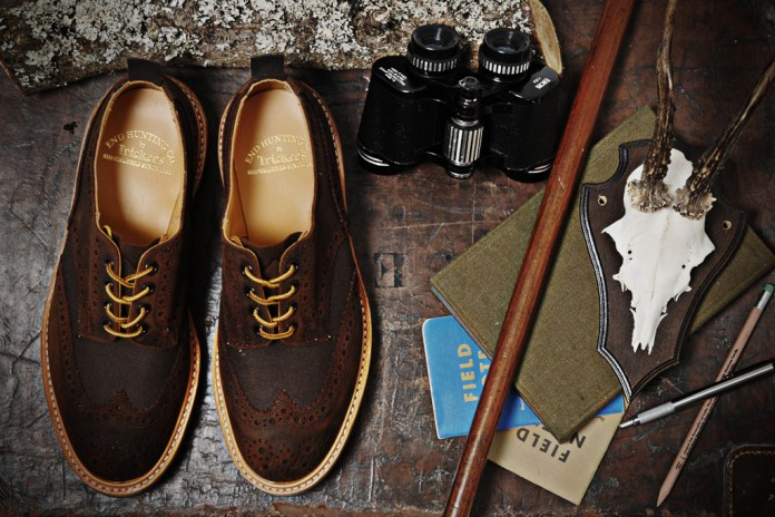 Tricker's for End Hunting Co. Waxy Espresso Two Tone Brogue & Super Boot