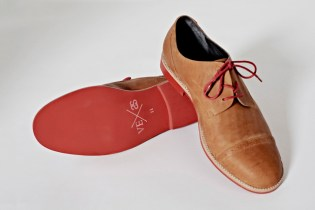 Stussy x Vanishing Elephant Tan Leather Derby