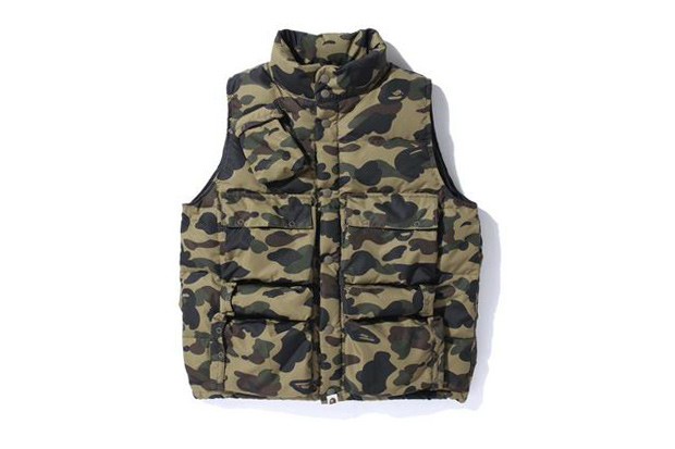 a bathing ape 1st camo c 1 down vest