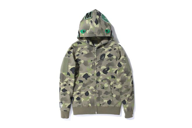 A Bathing Ape 1ST CAMO GRADATION SHARK FULL ZIP HOODIE