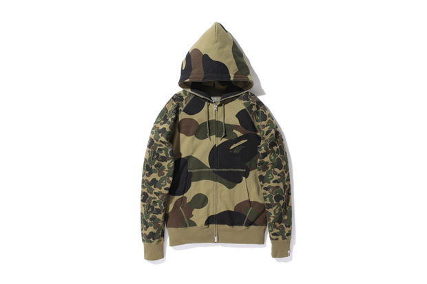 A Bathing Ape GIANT 1ST CAMO × ABC FULL ZIP HOODIE
